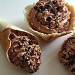 recette Cornets croustillants nutella,gavotte et nougatine