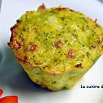 recette Muffin aux brocolis et saucisson