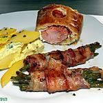 recette Filet pur porc ardennais en croûte farci au philadelfia fines herbes et sa part de gâteau escorté de fagôts de haricots lardés