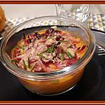 recette Gratin de purée de Butternut, Patate douce au Bacon et Comté