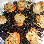 recette Noix de St Jacques au riz vénéré