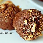 recette Financier au chocolat garni d'amande et de pralin