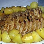 recette Rôti de porc à la bière, au miel et à la moutarde