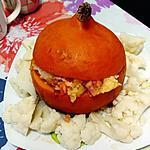 recette potimarrons farcis de riz a la sauce tomate et lardon