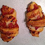 recette Croissants apéritifs jambon-cheddar