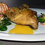 """recette Salade """"d'oreilles de lièvre"""" composée, cherche affinité avec cuisse de poulet nappée d'une petite sauce aux clémentines"""
