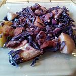 recette Fricassée de chou rouge au lard