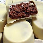 recette Chocolats blancs fourrés nutella et crêpes dentelles