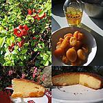 Gâteau au mascarpone , abricots et Izarra