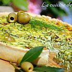recette Tarte aux courgettes et olives aux poivrons