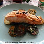 recette Pavé de Saumon aux Pommes de terre en Persillade