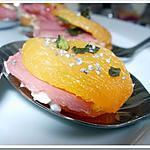 recette ** Préparation express pour Apéritif , brunch Act II : Abricot moelleux farcis au fromage frais et basilic, pavot**