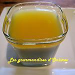 recette Blanc manger noix de coco et gelée de jus d'orange