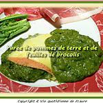 recette Purée de pommes de terre et de feuilles de brocolis