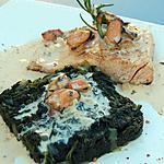 recette Pavé de saumon, épinard et  sauce aux moules du blog cccuisine.over-blog.com