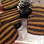recette Sablés rayés chocolat amande