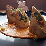 recette Ballotine de poulet farcie au chorizo et poivrons, sauce paprika