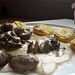 recette Paillard de veau sauce bolets et champignons de paris
