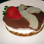 recette Bavarois de poires en robe chocolat sur biscuits