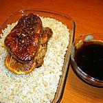 recette Roti de magret de canard à l'orange et riz aux graines de sésame torréfiées