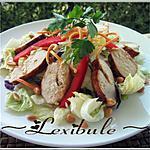 recette Salade de poulet grillé à la thaï