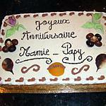 recette GENOISE AUX ABRICOTS FACON FRAISIER