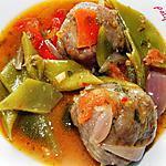 recette Boulettes maison aux haricots plats et tomates