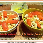 recette Salade automnale à la truite fumée