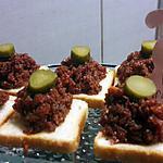 recette Tartare de viande séchée