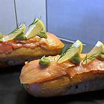 recette Éclair avocat, saumon et wasabi