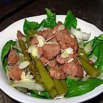 recette Pousses d'épinard aux foies de volaille