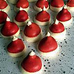 """recette Meringues de Noël """"bonnet de Noël """""""