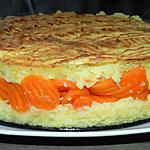recette Gâteau de pomme de terre fourré aux rondelles de carottes