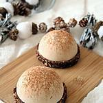 recette Mousse de marron sur sa pâte de dattes chocolatée