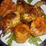 recette Cailles aux poires épicées