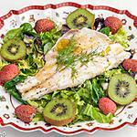 recette Salade de bar aux fruits d'hiver