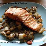recette Pavé de Saumon Compotée d'Endive au Soja