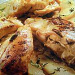 Blancs de poulet enlacés avec une sauce moutardée
