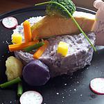 recette Saumon sur écrasé de vitelotte au mascarpone
