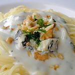 recette Spaghettis aux Noix, Sauce au Bleu