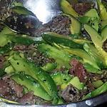 recette Salade d'avocat au thon fumé et sésame