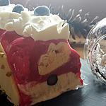 recette Bûche glacée vanille, framboise meringue sans sorbetière