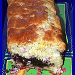 recette Cake à la farine de pois chiches et à la tapenade