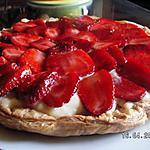 recette Tarte aux fraises et flan patissier