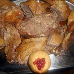 recette Oie farcie roti avec ses pommes aux airelles
