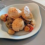 recette Saint Jacques rôties sur fondue d'endives