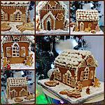 recette La  petite maison enneigée  de mes rêves en biscuit 4 épices....