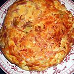 recette Frittata aux poireaux et jambon