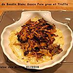 recette Cassolette de Boudin Blanc Sauce foie gras et Truffe
