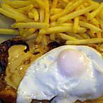 recette Faux filet et sa sauce au poivre l'oeuf à cheval